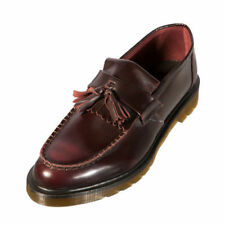 BRAND NEW GENUINE DR MARTENS ADRIAN UNISEX CHERRY/ BURGUNDY LEATHER LOAFERS