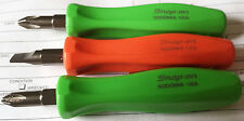 Snap-on Tools reversible mini screwdriver Green Orange Red magnetic pocket