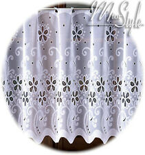 White Cafe Net Curtain Sold by the metre