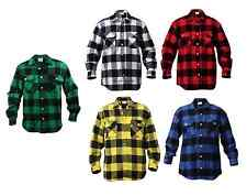 Extra Heavyweight Buffalo Plaid Flannel Shirts Warm  Long Sleeve Shirt # 4739