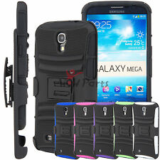for Samsung Galaxy Mega 6.3 Rugged Hybrid Protective Case Heavy Duty Impact New