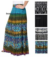 NEW WOMENS CHAUDRY PEASANT GYPSY BOHO SKIRT, LONG