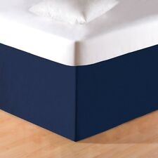 SOLID NAVY BLUE Twin Full Queen or King BEDSKIRT - 100% COTTON DUST RUFFLE SKIRT