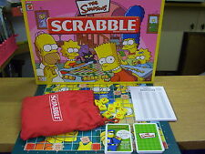 THE SIMPSONS SCRABBLE GAME SPARES VGC. 100 YELLOW TILES, RED BAG SCORE SHEETS