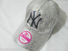 BLING VICTORIA SECRET PINK MLB Sequin NY NEW YORK YANKEES DETROIT TIGERS CAP HAT