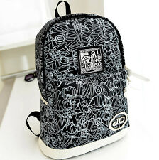 Canvas Backpack Shoulder Bags Casual Bags/ Fashion Ethnic Book Bag Letters Print