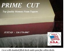 PRIME CUT MEMORY FOAM MATTRESS TOPPER PAD (Select your size)