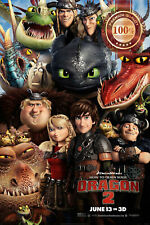 NEW HOW TO TRAIN YOUR DRAGON 2 MOVIE CHARACTERS WALL ART PRINT - PREMIUM POSTER