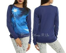 NEW Disney Frozen Elsa Snow Queen Pullover Jumper Top Long Sleeve Blouse XS-2XL