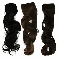 One Piece Clip in Synthetic Human Hair Extensions Fashion Long Wavy Curly Hair