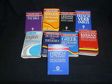 DICTIONARY: FRENCH. SPANISH. GERMAN. GREEK. THESAURUS, ENGLISH, BIBLE