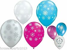 "Frozen Party Supplies Latex Snowflake Balloons 11"" balloon decorations Christmas"