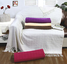 100% Cotton Large Sofa Throw / Cover Luxury Heavy Quality Sofa Throw Over