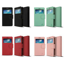 Window View Diary Wallet Phone Case Purse Card Holder Flip Cover BA