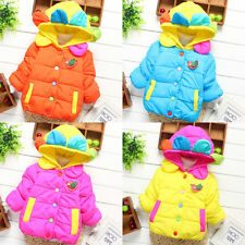 Baby Girls Petal Hooded Thick Lined Jacket Coat Kids Winter Clothes Outwear WRB
