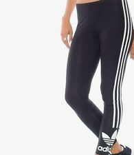 WOMENS ADIDAS ORIGINALS TREFOIL LEGGINGS-SIZE 6, 8, 10,12,14- BLACK- BNWT