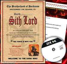 SITH LORD CERTIFICATE STAR WARS Special Christmas Gift for him or her man -