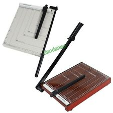 A4 Paper Cutter Guillotine Quality Metal/Wooden Based Trimmer Heavy Duty