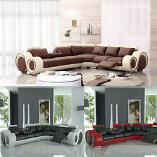 Modern Franco Leather Sectional Sofa Couch In 3 colors TOS-FF-4087 FREE SHIPPING
