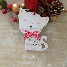 "Personalised ""Pet Cat"" Kitten First Christmas Tree Decoration Gift New Home gift"