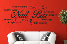 Nail Bar Collage Wall Art Picture Quote Sticker Hair Beauty Salon varnish polish