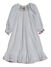 WHITE SANTA SMOCKED HOLIDAY CHRISTMAS NIGHTGOWN 2T 3T 4T  NEW!