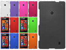 For Nokia Lumia 520 Rubberized Hard Case Snap on Phone Cover Accessory