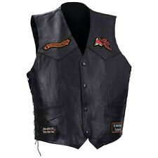 NWT Womens Buffalo Black Leather Motorcycle Rose Lady 66 Vest S XL 2X 3X 4X 5X