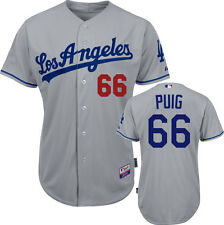 2014 Yasiel Puig Los Angeles Dodgers Authentic Cool Base Road Jersey (40-52)