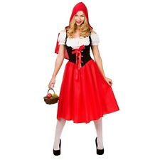 LITTLE RED RIDING HOOD LADIES FANCY DRESS COSTUME BOOK WEEK FAIRY TALE OUTFIT