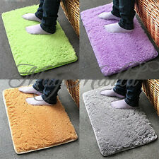 Non-slip Absorbent Bedroom Floor Plush Velvet Dust Doormat Bath Bathroom Rug