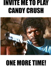 Samuel Jackson funny  shirt candy crush pulp fiction humor Ezekiel facebook like