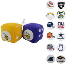 New NFL Home office Car Truck Rear View Mirror Soft Plush Fuzzy Hanging Dice