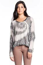 Young Fabulous and Broke Angels Sweater Grey Infinity Wash Knit Long Sleeves NEW