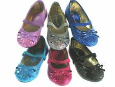 New Toddler Baby Girls Glitter Ballerina Slip-On Flats Shoes Princess Costume