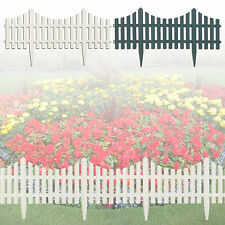 4x Flexible Garden Lawn Grass Edge Edging Picket Border Panel Fence Interlocking