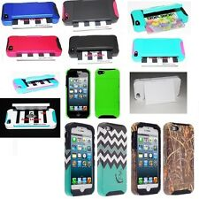 For Apple iPhone 5 / 5S Hybrid Hard Credit Card ID Holder Case Skin Phone Cover