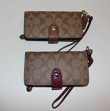 NWT Coach Peyton Sig Phone Case Small Wallet Wristlet, F51700 $118 Pick Color