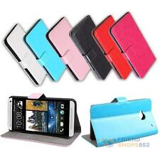 Multicolor Simulation Leather Flip Wallet Case Cover for HTC ONE M7 #F8s