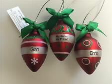 Hallmark Ganz Light Up the Holidays PERSONALIZED ORNAMENT- Names from R to Z