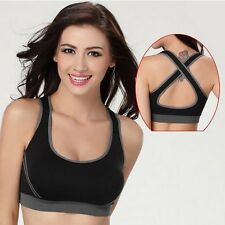Women Sexy Seamless Sports Bra Top Push up Running Yoga Sleep Fitness Clothing