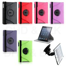 For iPad MINI 360 Rotating Magnetic PU Leather Case Cover Stand with Car Mount