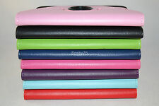 Amazon Kindle Fire HD Rotating Leather Case Cover Green Pink Black Purple Red