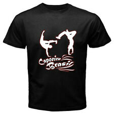 New Capoeira Brazilian Street Martial Arts Logo Men's Black T-Shirt Size S-3XL