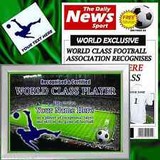 PERSONALISED FOOTBALL WORLD CLASS CHRISTMAS GIFT FOR HIM BOYFRIEND DAD DADDY