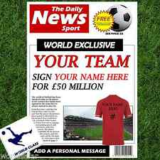 FOOTBALL NEWSPAPER PERSONALISED GIFT SET FOR HIM ON CHRISTMAS