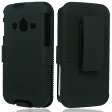 For Samsung Galaxy Rugby Pro i547 COMBO Belt Clip Holster Case Cover Kick Stand