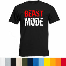 BEAST MODE logo gym bodybuilding workout monster lifting cool funny rare T-Shirt