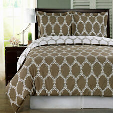 BrooksField Taupe 2pc Twin/Twin XL Duvet cover set 100%Egyptian Cotton
