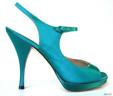 new $680 YSL Yves Saint Laurent Tribute turquoise MaryJane platforms shoes -SEXY